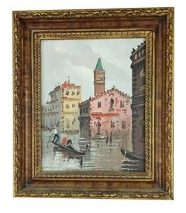*RARE* Italian Artist ANTONIO DEVITY Original Oil Painting CANVAS Cityscape B242
