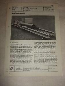 Original Rda Publicité Feuille De Données Horizontpreßbohrgerät Hpb300 Veb Lengenfeld 1982-hrgerät Hpb300 Veb Lengenfeld 1982 Fr-fr Afficher Le Titre D'origine