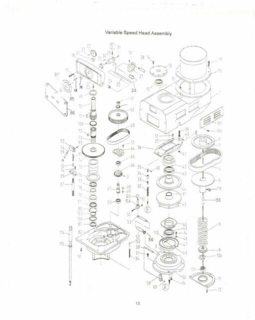 Jet Jtm 1050 Vertical Turret Mill Operator Parts List Manual 211