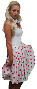 22-034-White-amp-Red-Spot-Full-Circle-Rock-N-Roll-Skirt-amp-Scarf-Red-Nose-Day-UK