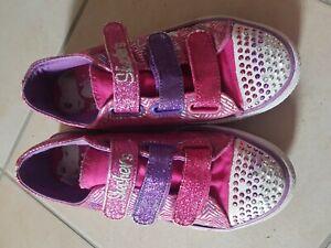 Details zu Skechers Blink Schuhe Twinkle toes, Gr. 36, rosa lila, sehr guter Zustand!