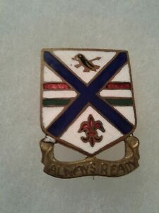 Authentic-WWII-US-Army-130th-Infantry-Regiment-DI-DUI-Crest-Insignia