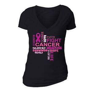 Breast Cancer Awareness Women`s PINK T-shirt Shirt Support Ribbon Survivor Tee