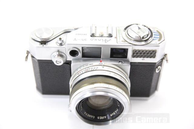 Vintage Aires 35-V 35 V 35mm Film Camera Body w/ Aires H Coral 45mm f/1.9 Lens