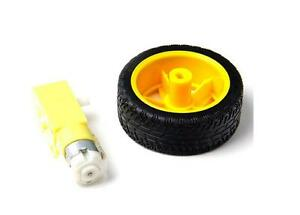 Arduino-smart-Car-Robot-Plastic-Tire-Wheel-with-DC-3-6v-Gear-Motor-Hot-And-UK