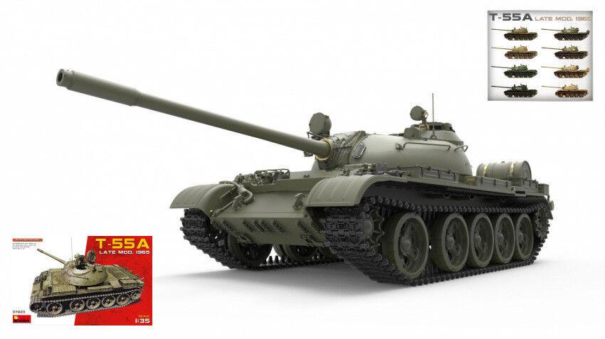 T-55a Late Mod.1965 Tank Plastic Kit 1 35 Model MINIART