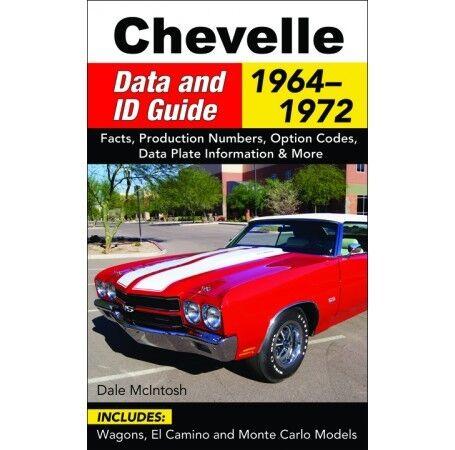 1964-1972 Chevelle Specs Engine//Trans//Interior//Paint//Option//Codes Guide CT577