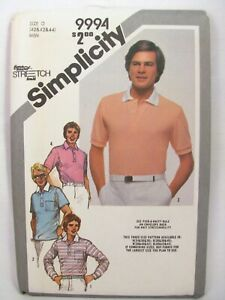 Sewing-Pattern-Simplicity-9994-Mens-Knit-Pullover-Top-Sizes-40-42-44-Uncut