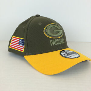 Small//Medium, Green Bay Packers New Era Mens NFL 2018 Salute to Service 39Thirty Flex Fit Hat