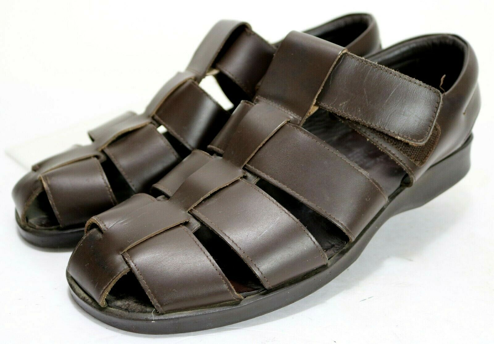 To Boot New York Men's  Fishermans Sandals Size 12 Leather Brown