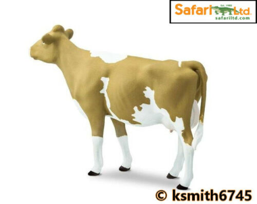 Safari GUERNSEY COW solid plastic toy farm pet dairy animal cattle NEW *
