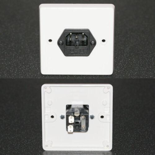 Mur Face Plate prise électrique Bouilloire soudure connecteurs IEC C14 Mâle fondue