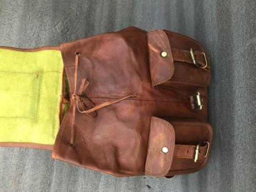 Details about  /Women/'s Laptop Backpack Vintage Leather Day pack Hiking Rucksack Bag Satchel