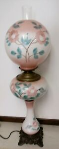 33-inch-Vintage-Electric-Gone-With-The-Wind-Hurricane-Parlor-Lamp-Hand-Painted