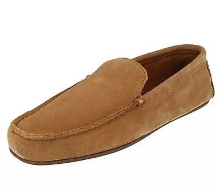 Mens Clarks Tan Suede Kite Kindling Slippers shoes Size 7G