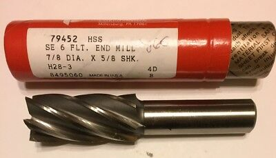 """BRUBAKER 7//8/"""" END MILL MADE IN USA"""