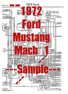 1972 Ford Mustang Mach 1 Full Car Wiring Diagram *High ...