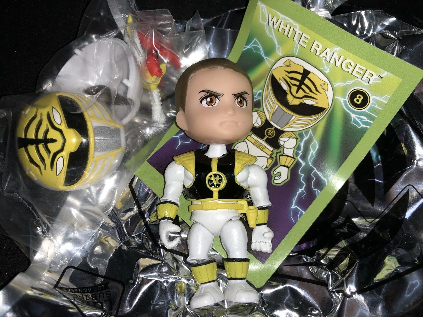 The Loyal Subjects Target Exclusive MMPR Power Rangers Neon White Ranger