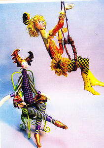 CLEARANCE-PATTERN-Trapeze-acrobatic-style-cloth-doll-PATTERN