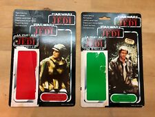 Vintage STAR WARS TRI-Logo Cardbacks LEIA Combat Pocho und HAN Solo Trench Coat