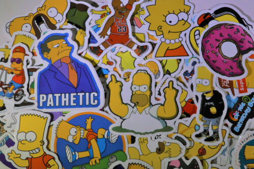 63pcs The Simpsons Vinyl Stickers for Truck//Skateboard//Luggage//Laptop Decal USA!