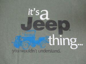 Nwot-IT-039-S-un-Jeep-Cosa-Voi-Wouldn-039-T-Understand-Verde-T-shirt-M-D253