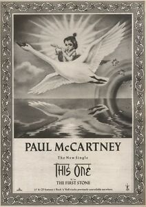 22-7-89Pgn09-Advert-039-this-One-B-w-First-Stone-039-By-Paul-Mccartney-15x11-FRAMED
