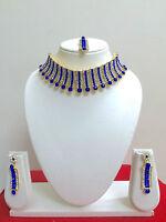 Indian Bollywood Wedding Bridal Jewelry Gold Fashion Jewellery Necklace Set