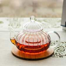 600ml 20fl.oz Heat Resisted Handmade Glass Pumpkin Teapot with Infuser & Lid