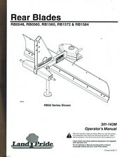 Land Pride Rb048 Rb0560 Rb1572 And Rb1584 Rear Blades Operators Manual