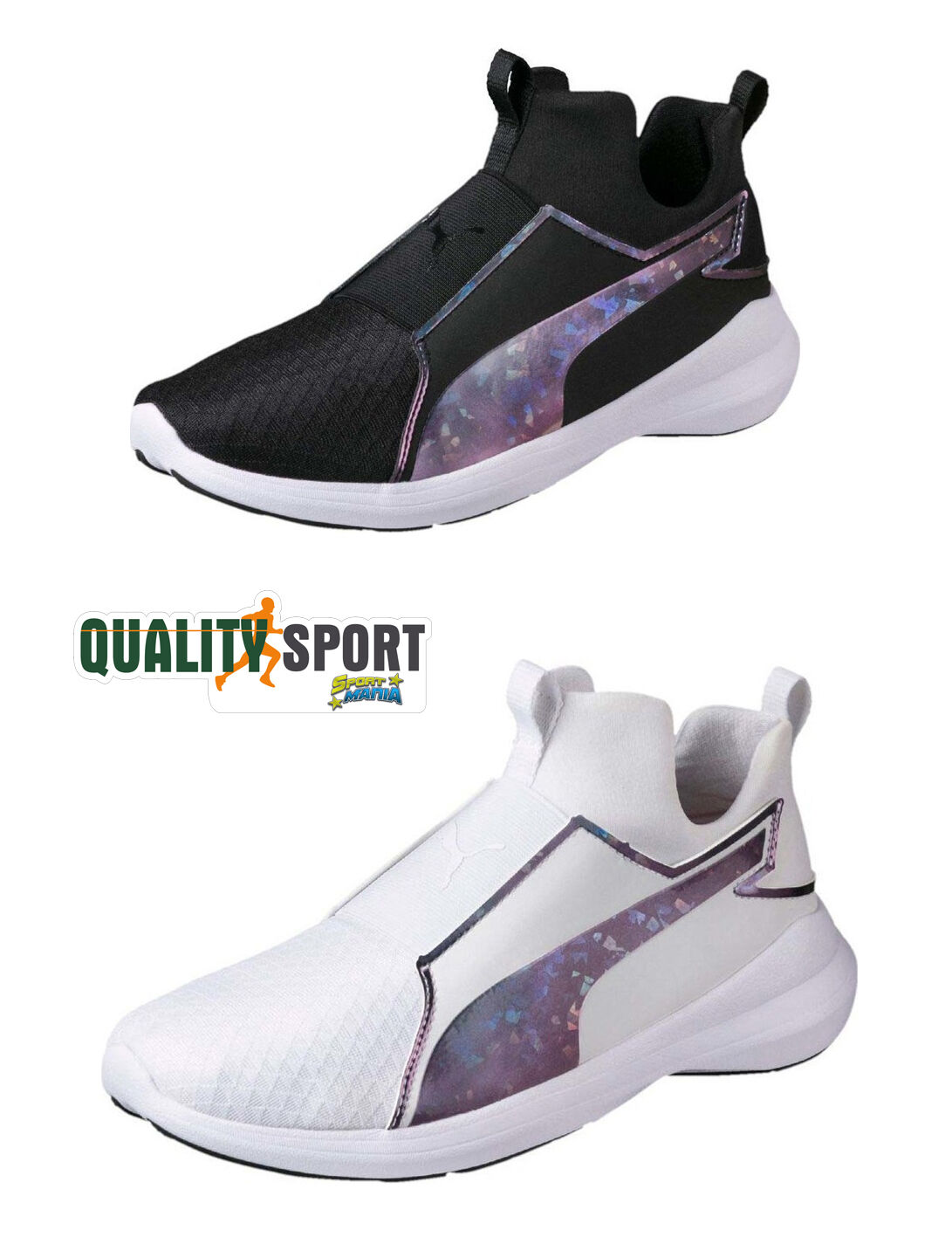 Puma Rebel Mid + SoftForm Sportive Bianco Nero Donna Scarpe Sportive SoftForm Sneakers 364556 bf0eef