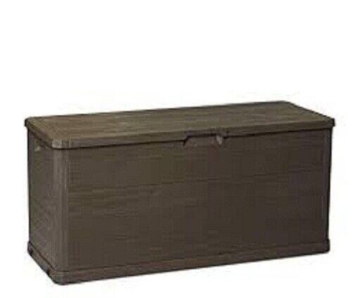 Baule portatutto resina esterno woody's Marroneee 280 litri cm 117x45x56
