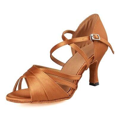 Ballroom Satn Diamond Latin Dance Shoes Woman Salsa Professional Dancing Shoes