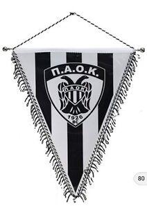Details Zu Paok Bc Xxl Wimpel Wappen Champions Europa League Fussball Neu Griechenland New