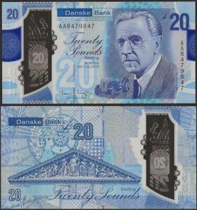 Northern Ireland 20 Pounds Danske Bank UNC,2020 Polymer,Ferguson,B504a AAPrefix