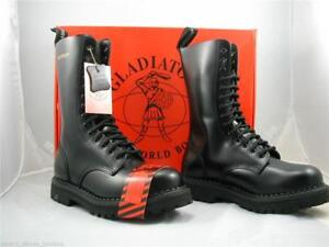 Gladiator 14 Eyelet Boots Steel Toe Cap Made In England