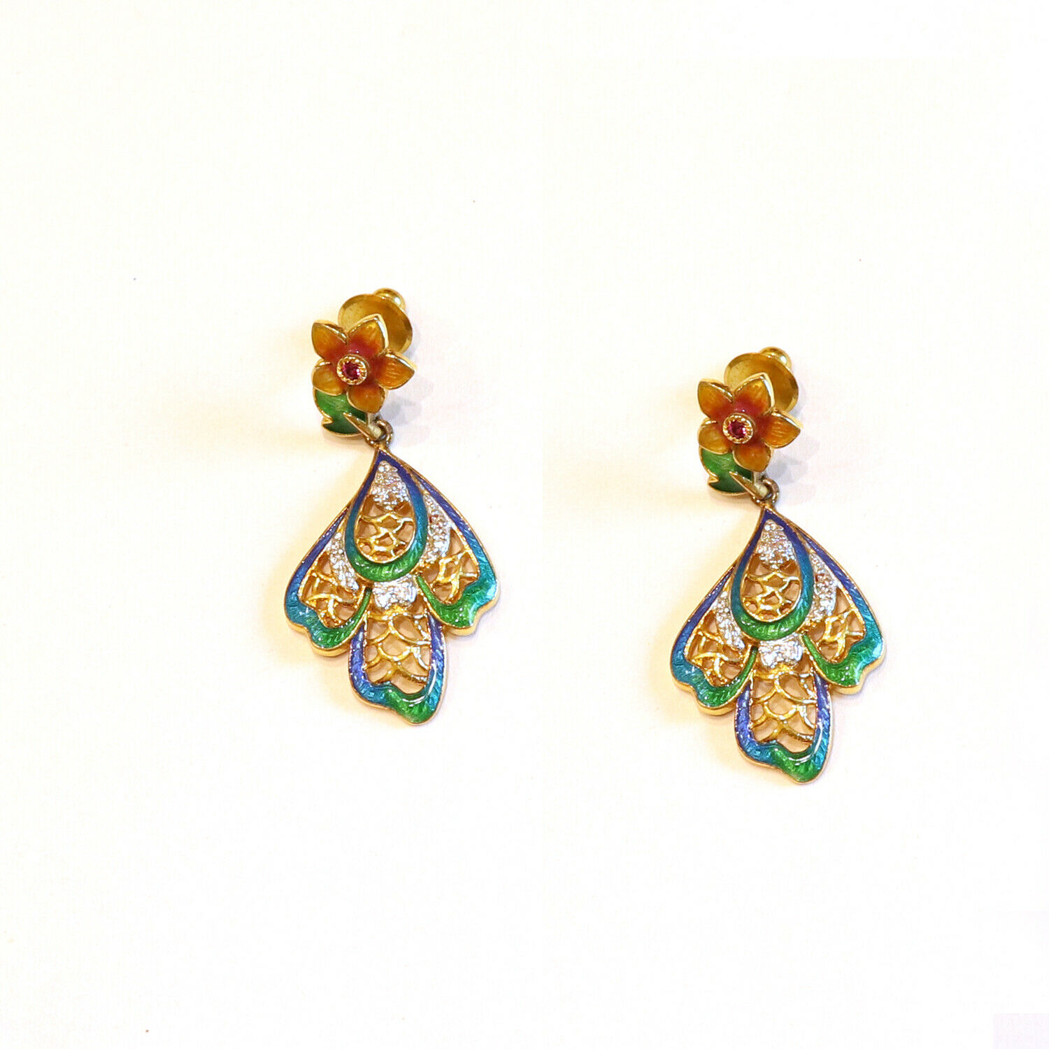 CZ Gemstone Jewelry Earring Thewa Traditional Earring Indian Jewelry Indian Gift