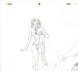 AEON FLUX Production Cel Cell Original Drawing Animation Art MTV Liquid TV Sit