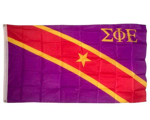 Sigma Phi Epsilon SigEp Fraternity Chapter Flag 3/' x 5/'