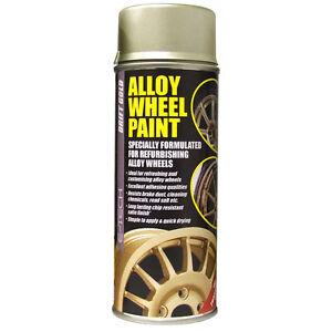 tech car alloy wheel spray paint drift gold 400ml can chip resistant. Black Bedroom Furniture Sets. Home Design Ideas