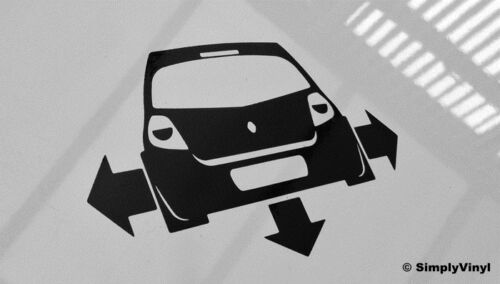 DOWN AND OUT RENAULT CLIO CAR STICKER FUNNY MK3 DECAL BUMPER WINDOW