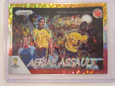 2014 Panini Prizm FIFA  WC Soccer Aerial Assault Red & Yellow Radamel Falcao