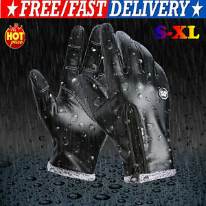 Thermo Touchscreen Wasserdicht Leder Handschuhe Damen Herren Auto Warm