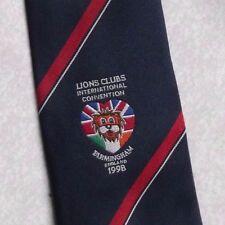Lions CLUB INTERNATIONAL Convention Cravatta Vintage con Birmingham England 1998