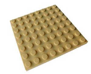 Lego-2-Stueck-Platte-8x8-in-beige-tan-41539-Neu-Platten-Bauplatte-City-Basics