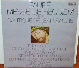 George Guest Faure Messe De Requiem Cantique Uk Argo Lp Vinyl Record Zrg 841 Ebay
