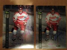 2 card lot 1992 BORIS MIRONOV CLASSIC 4 SPORT HOCKEY AUTO #1587+1571/2075