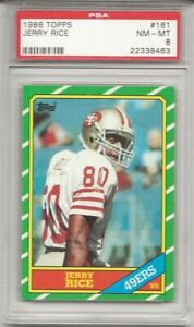 1986-TOPPS-161-JERRY-RICE-ROOKIE-PSA-8-NM-MT-SF-49ERS-HOF-L-K