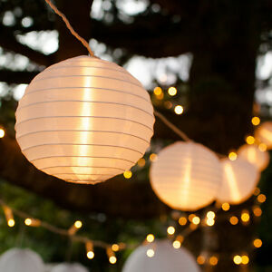 Image Is Loading 10 White Chinese Lantern Connectable Indoor Outdoor Led