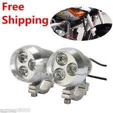 2x 9W 3 LED Spot Fog Head Light For Yamaha Royal V Star XVS 650 950 1100 1300
